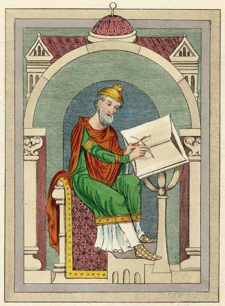 Wall Art - Drawing - Wulfstan Archbishop Of York 1002 - 1023 by Mary Evans Picture Library