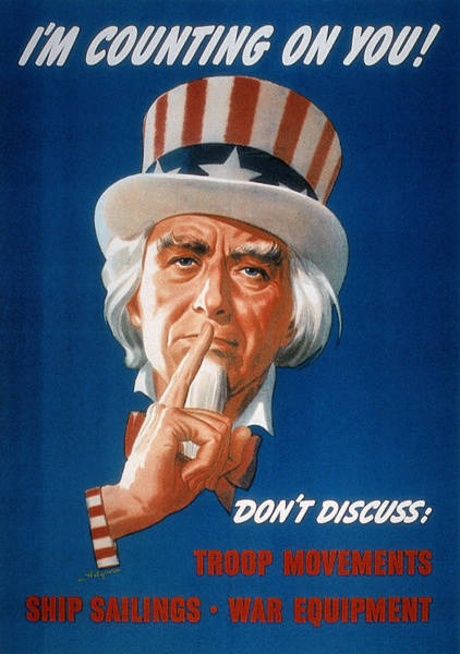 Photograph - Wwii: Careless Talk Poster by Granger