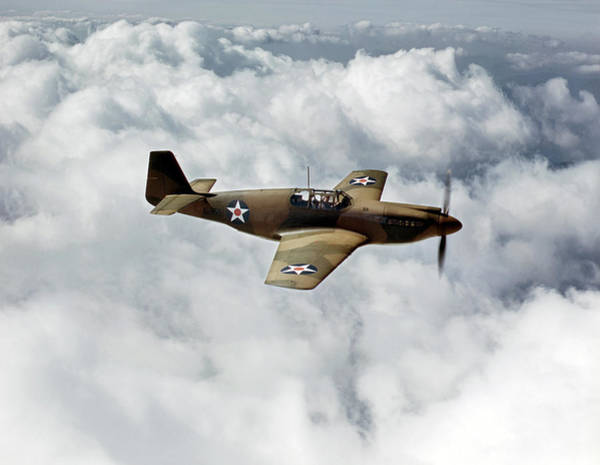 Wall Art - Photograph - Wwii P-51 Mustangs, 1942 by Granger