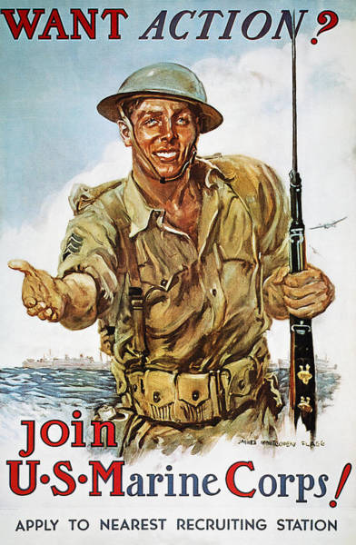Photograph - Wwii Recruiting Poster by Granger
