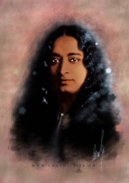 Old Masters Digital Art - Yogananda by Graphicsite Luzern