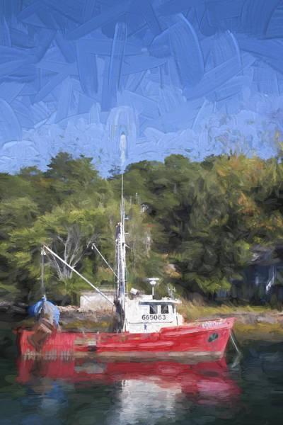 New England Coast Wall Art - Photograph - York Harbor Maine Painterly Effect by Carol Leigh