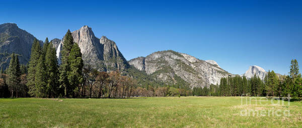 Dome Peak Photograph - Yosemite Meadow Panorama by Jane Rix