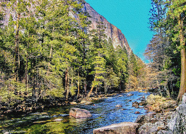 Photograph - Yosemite Valley Along Yosemite River Beach by Bob and Nadine Johnston