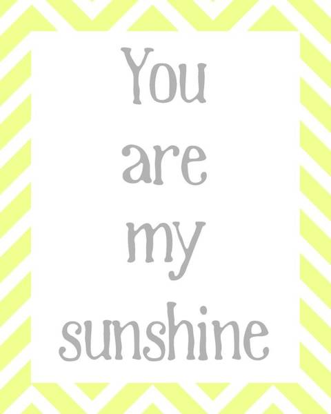Yellow Digital Art - You Are My Sunshine by Jaime Friedman