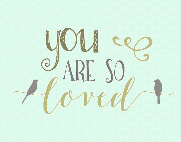 Kid Wall Art - Painting - You Are So Loved by Tara Moss