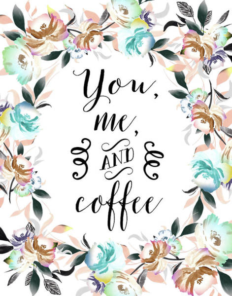 Wall Art - Painting - You, Me And Coffee by Tara Moss