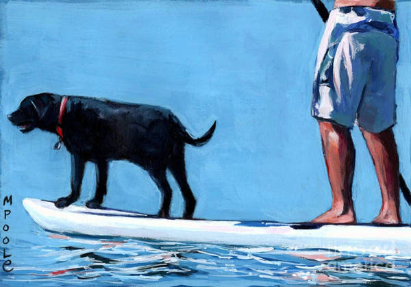 Paddling Painting - You Me And The Sea by Molly Poole