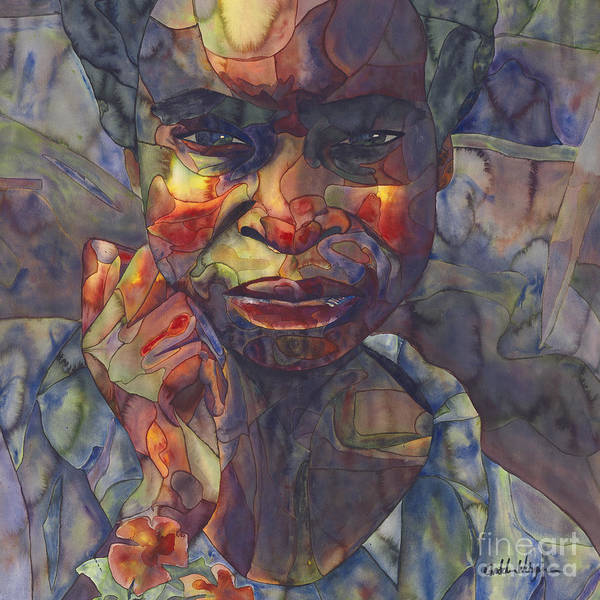 Abstract People Painting - Young African Girl by Gretchen Weisgram