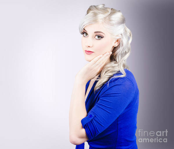 Beauty Salon Photograph - Young Blond Girl With Perfect Clean Skin by Jorgo Photography - Wall Art Gallery