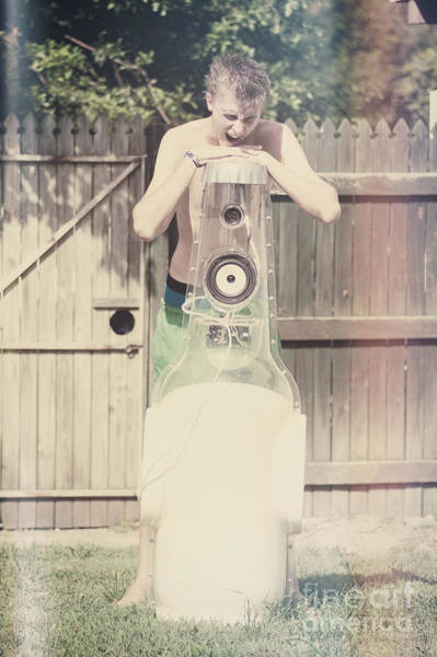 Barbecue Photograph - Young Man Singing Along To Summer Beer Songs by Jorgo Photography - Wall Art Gallery