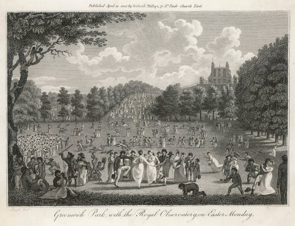 Wall Art - Drawing - Young People Enjoying  Greenwich Park by Mary Evans Picture Library