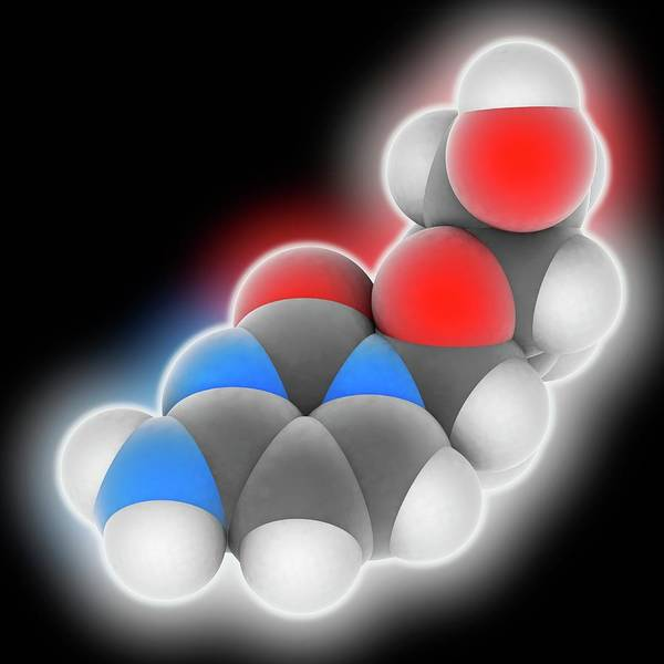 Syndrome Wall Art - Photograph - Zalcitabine Drug Molecule by Laguna Design