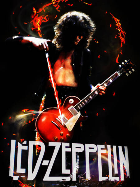 Led Zeppelin Photograph - Zeppelin by FHT Designs