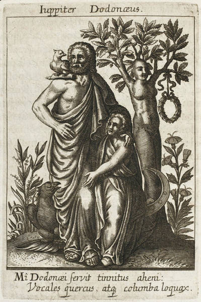 Wall Art - Drawing - Zeus / Jupiter Dodoneus Whose  Oracle by Mary Evans Picture Library