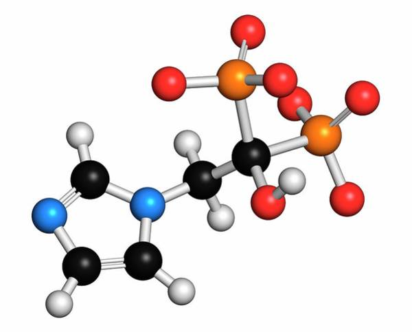 3d Model Photograph - Zoledronic Acid Osteoporosis Drug by Molekuul