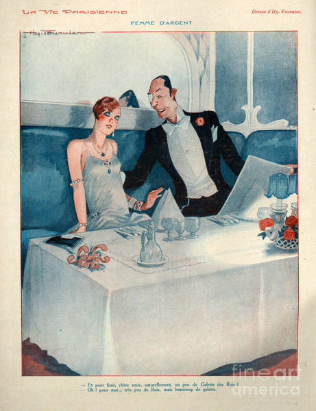 Wall Art - Drawing - 1920s France La Vie Parisienne by The Advertising Archives