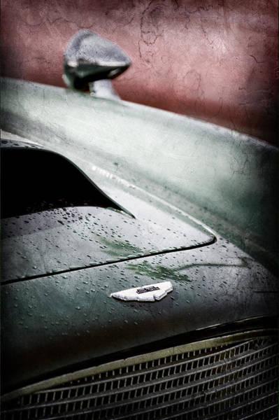Photograph - 1959 Aston Martin Db4 Gt Hood Emblem by Jill Reger