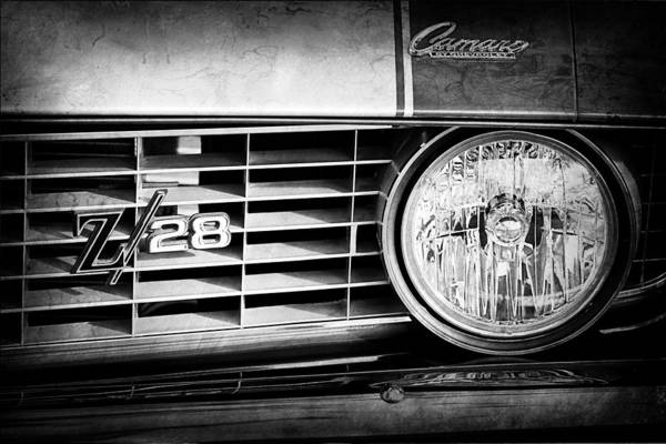 Photograph - 1969 Chevrolet Camaro Z-28 Grille Emblem by Jill Reger