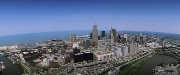 Cleveland Scene Photograph - Aerial View Of Buildings In A City by Panoramic Images
