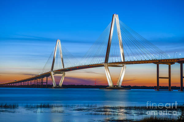 Photograph - Charleston Arthur Ravenel Bridge by Dale Powell