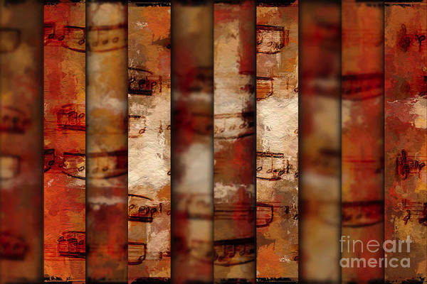 10-bar Orange Pastiche Art Print