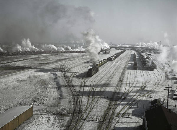 Chicago And North Western Photograph - Chicago Railroad, 1942 by Granger