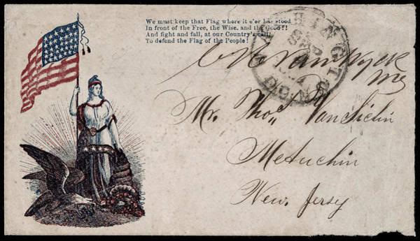 Bald Eagles Drawing - Civil War Letter, C1863 by Granger