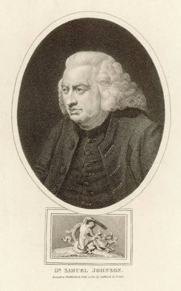 Wall Art - Drawing - Dr Samuel Johnson  English Writer by Mary Evans Picture Library