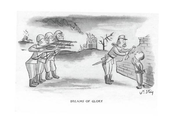 Wall Art - Drawing - Dreams Of Glory by William Steig