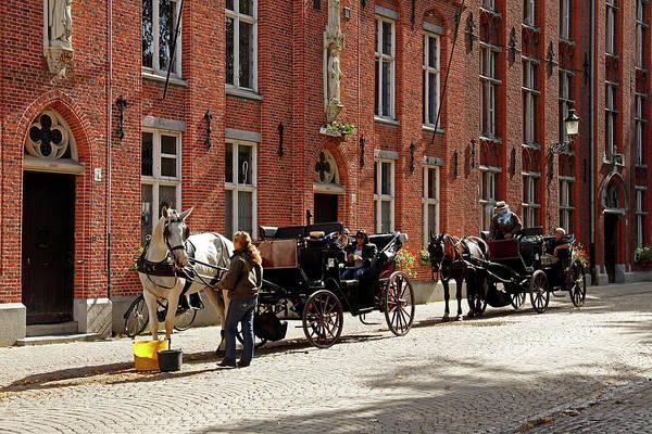 Bruges Photograph - Europe, Belgium, Bruges by Kymri Wilt