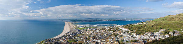 Channel Isles Photograph - High Angle View Of A City by Panoramic Images