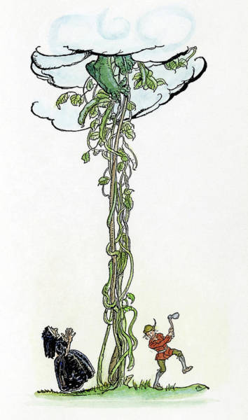 Drawing - Jack And The Beanstalk by Granger