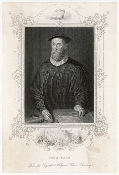 Wall Art - Drawing - John Knox (1505-1572) Scottish by Mary Evans Picture Library