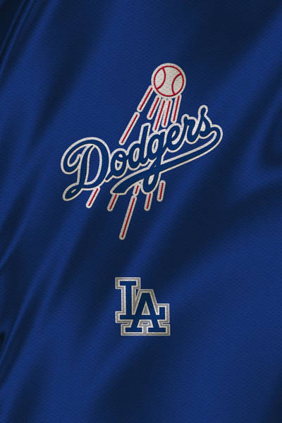 Outfield Wall Art - Photograph - Los Angeles Dodgers Uniform by Joe Hamilton