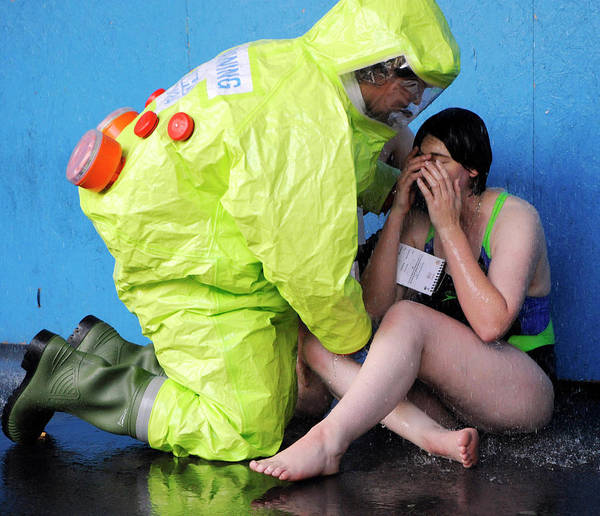Nbc Photograph - Major Emergency Decontamination Training by Public Health England