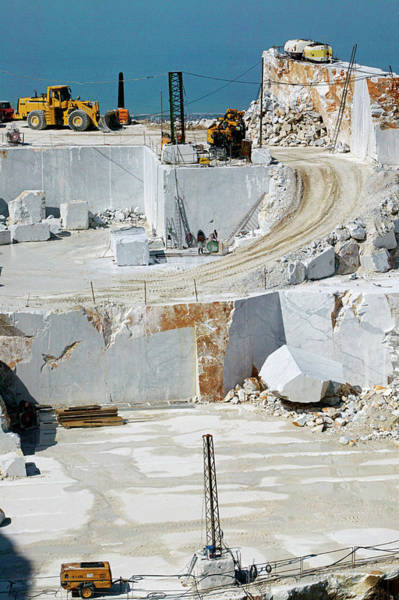 Wall Art - Photograph - Marble Quarry by Mauro Fermariello/science Photo Library
