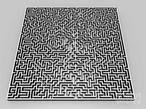 Photograph - Maze Artwork by Pasieka