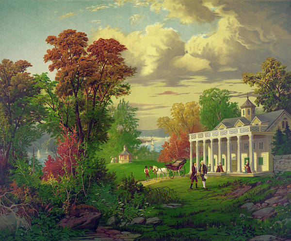 Portico Painting - Mount Vernon by Granger