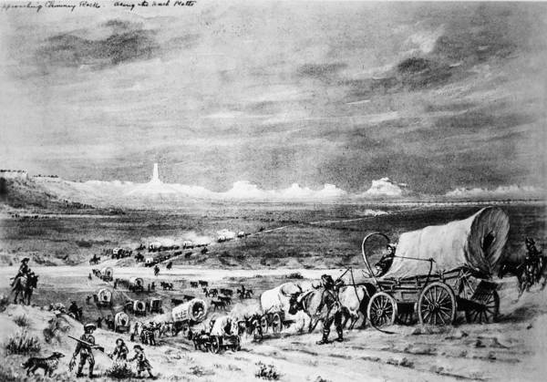 Destiny Drawing - Oregon Trail Emigrants by Granger