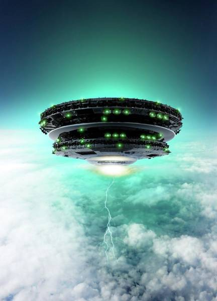 Wall Art - Photograph - Ufo by Victor Habbick Visions/science Photo Library