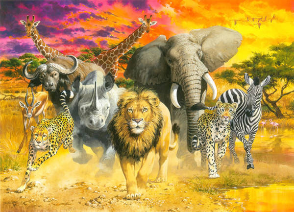 Wall Art - Painting - Africa's Finest by MGL Meiklejohn Graphics Licensing