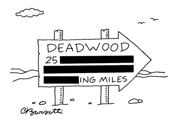 March 14th Drawing - New Yorker March 14th, 2005 by Charles Barsotti