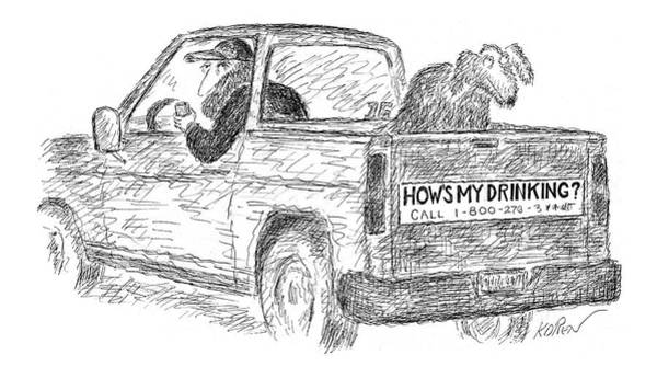 Auto Drawing - New Yorker April 25th, 2005 by Edward Koren