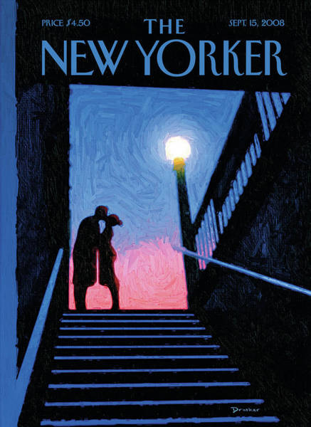 Kissing Painting - New Yorker Moment by Eric Drooker