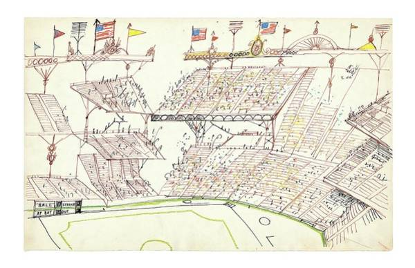 Architecture Drawing - New Yorker November 22nd, 2004 by Saul Steinberg