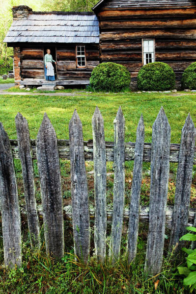 Log Cabins Photograph - Usa, North Carolina, Great Smoky by Jaynes Gallery
