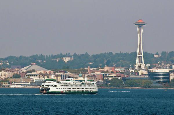 Commute Photograph - Usa, Wa, Seattle by Trish Drury