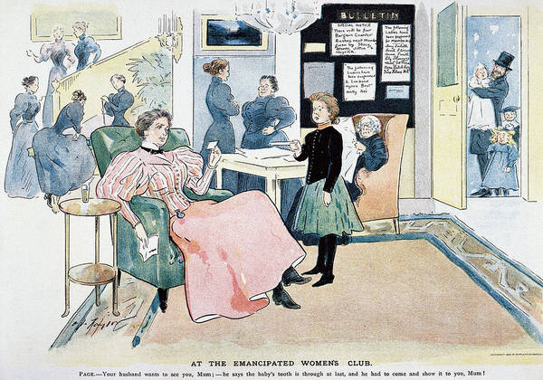 Political Cartoon Painting - Women's Rights Cartoon by Granger