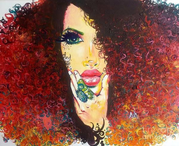 Wall Art - Digital Art - 10000  Curl's by Respect the Queen